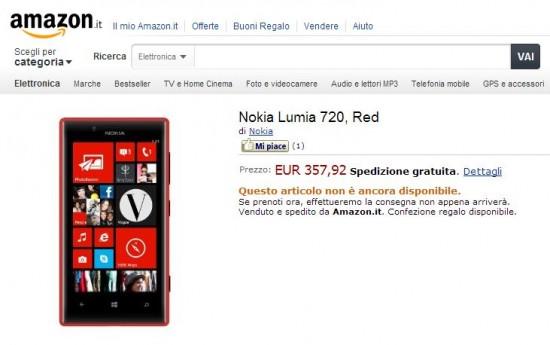 Nokia Lumia 720 su Amazon
