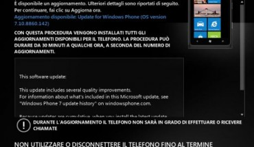 Nuova build v7.10.8860.142 di Windows Phone 7.8 disponibile