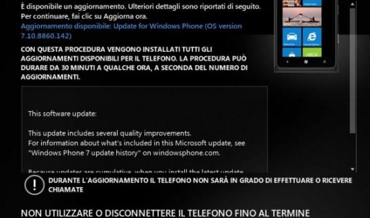 Nuova build v7.10.8860.142 di Windows Phone 7.8 disponibile