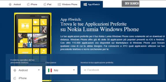 App Switch to Lumia
