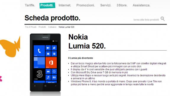 Nokia Lumia 520 H3g