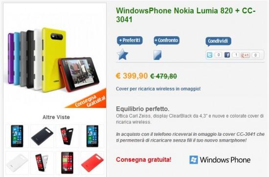 Nokia Lumia 820 su nstore.it
