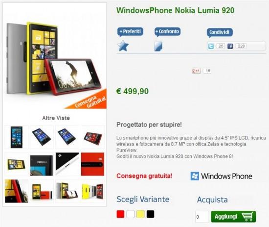 Nokia Lumia 920 su NStoreNokia Lumia 920 su NStore