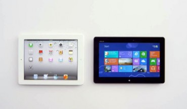 Tablet W8 vs iPad