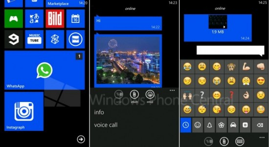 WhatsApp Beta per WP7.8
