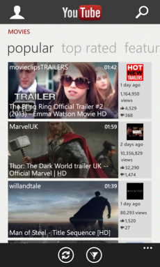 Youtube per Windows Phone 8