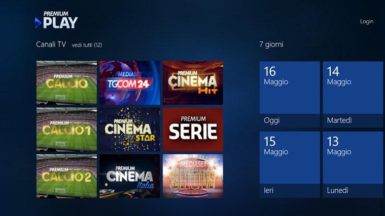 Premium play per pc e tablet windows disponibile al