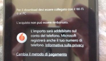 Pagamento tramite credito Vodafone