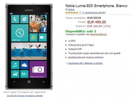 Nokia Lumia 925 su Amazon