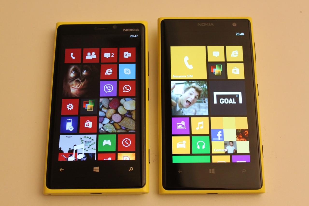 Nokia Lumia 1020 e Nokia Lumia 920