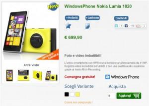 Nokia Lumia 1020 disponibile su NStore