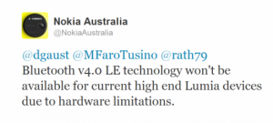 Nokia Australia Tweet