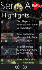 Serie A Replay