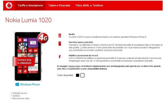 Nokia Lumia 1020 Vodafone