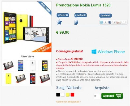 Nokia Lumia 1520 su NStore