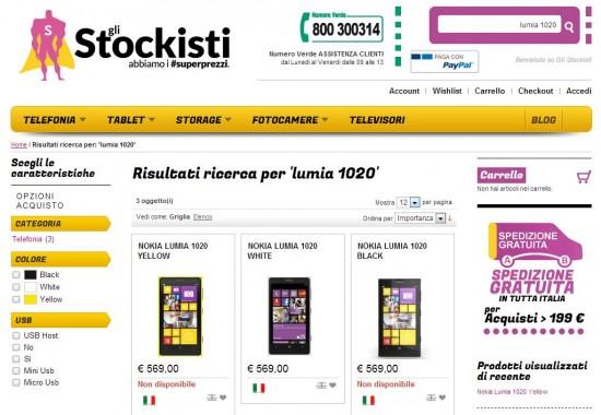 Nokia Lumia 1020 da gliStockisti