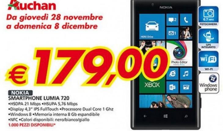 Nokia Lumia 720 a soli 179 Euro da Auchan