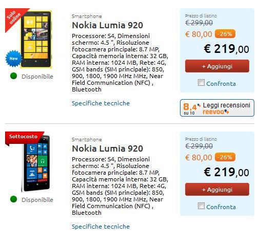 Nokia Lumia 920 Sottocosto