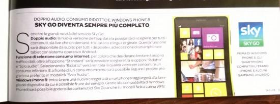 SkyGo per WP8