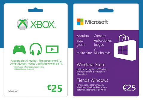 Gift Card Microsoft - Carta regalo