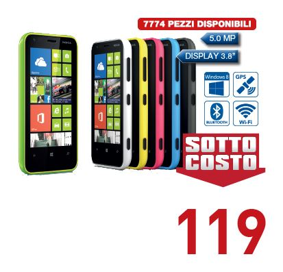 Nokia Lumia 620 in offerta da Euronics