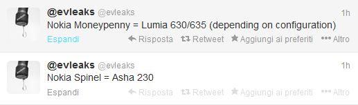 Tweets di evleaks