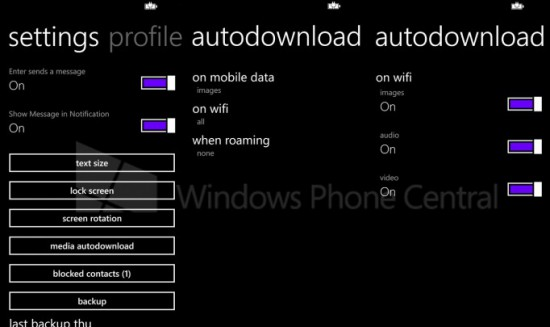 Autodownload in WhatsApp