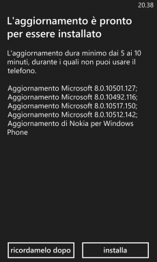 Aggiornamento Lumia Black