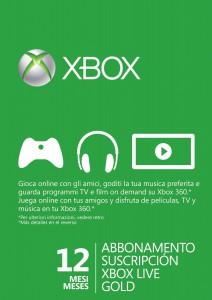Xbox Live Gold da 12 mesi