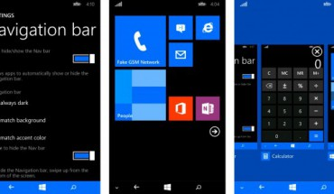Navigation Bar WP8.1