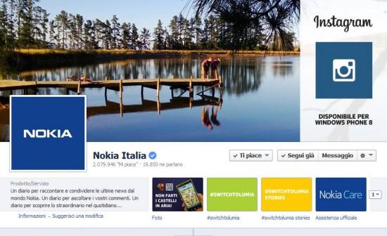 Fanpage Nokia su FB