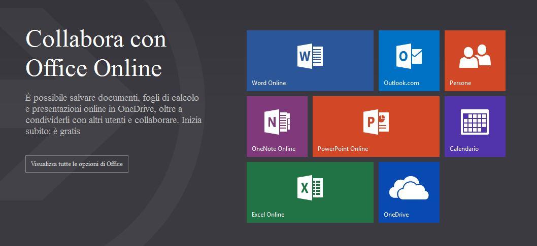 Microsoft lancia office online la nuova piattaforma su for Costo aggiuntivo per suite suocera