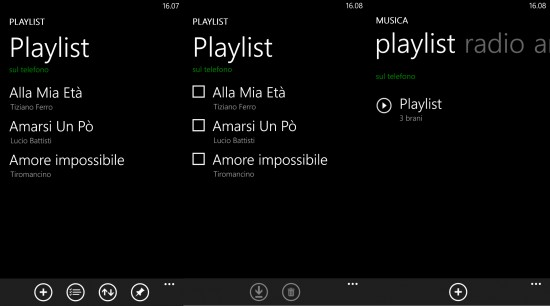 Creare Playlist con Xbox Music