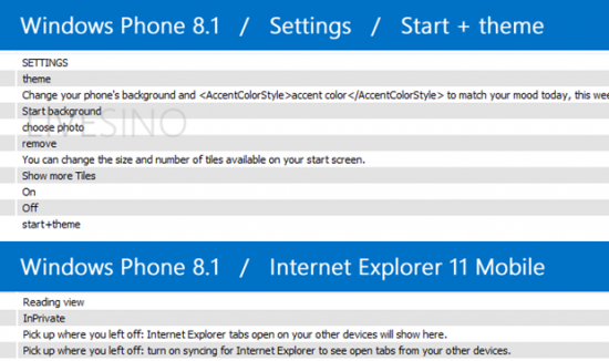 Nuove Opzioni di Windows Phone 8.1