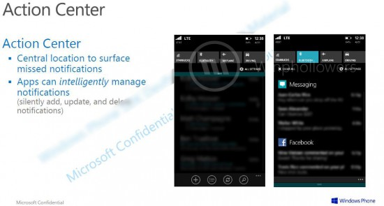 Action Center WP8.1