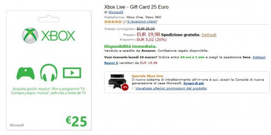 Xbox Live - Gift Card
