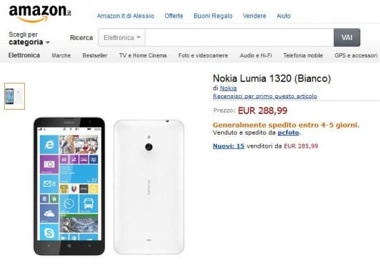 Nokia Lumia 1320 su Amazon