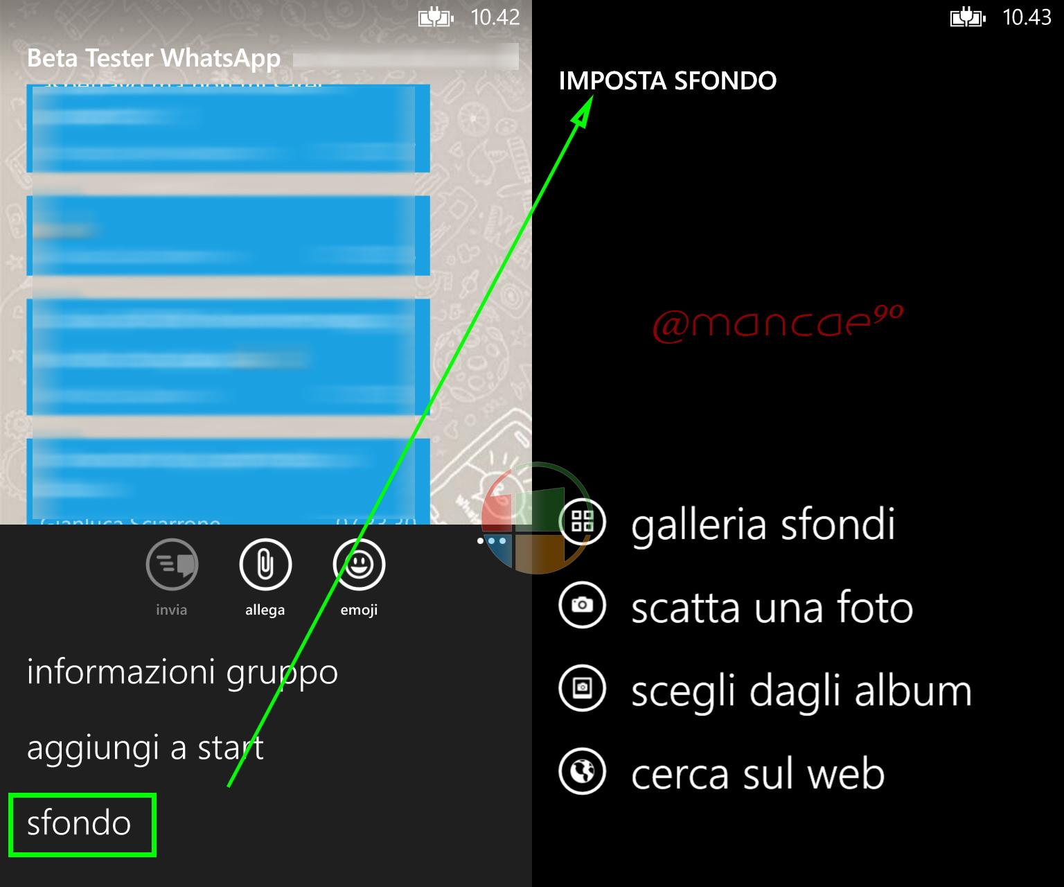 Sfondi personalizzati whatsapp