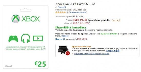 Gift Card Microsoft da 25 Euro