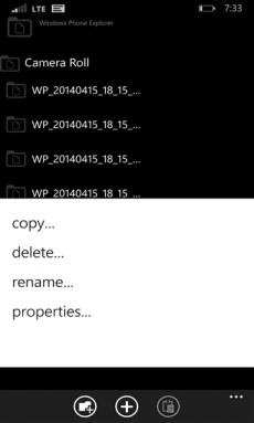 Windows Phone Explorer