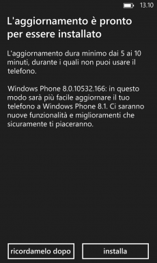 Update Preview WP8.1