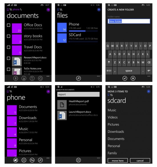 File Manager per WP8.1 by Microsoft