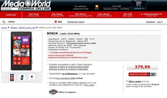 Offerta Nokia Lumia 1020
