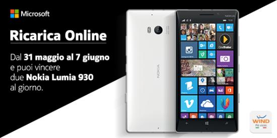 Vinci Nokia Lumia 930 con Wind