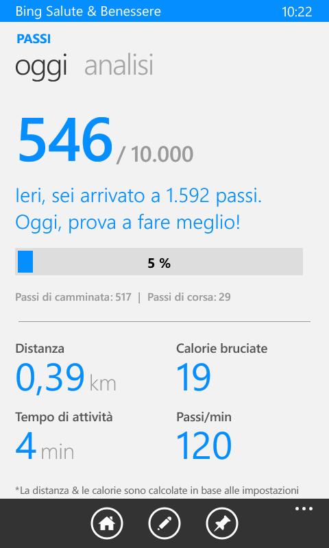 Salute Benessere Per Wp8 1 Si Aggiorna Alla V3 0 3 332 Aggiunto Il Supporto Al Sensorcore Del Lumia 630 Windowsteca Blog