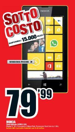Nokia Lumia 520 a soli 79 Euro
