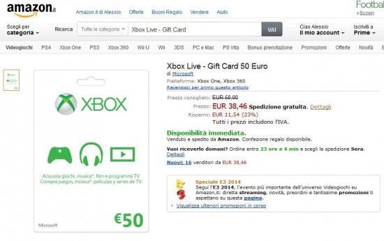 Gift Card Microsoft da 50 Euro
