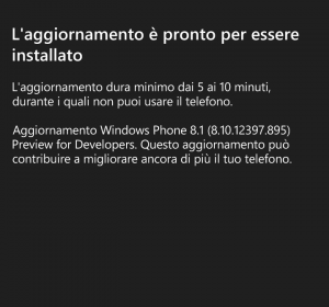 Update WP8.1 Previw