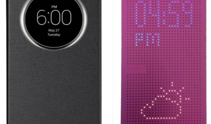 LG Quick Circle Cover e HTC Dot View Cover