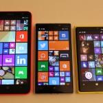 Nokia Lumia 1320, 930 e 920